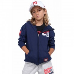 BOYS FULL ZIP JACKET N.BLUE