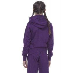 ΖΑΚΕΤΑ GIRLS BASIC ZIP HOODIE D.PURPLE