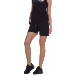 BODY ACTION WOMEN'S TERRY SHORTS 031125 BLACK
