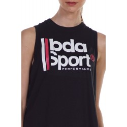 BODY ACTION WOMEN'S LOOSE FIT TANK 041124 BLACK