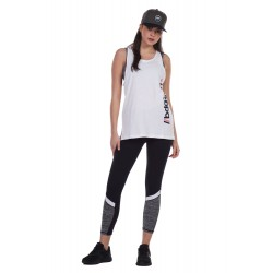 BODY ACTION WOMEN'S WORKOUT VEST 041125-03 WHITE