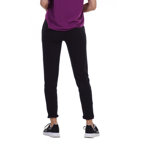 BODY ACTION WOMEN'S SKINNY JOGGERS 021134 BLACK