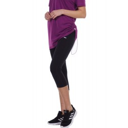 BODY ACTION WOMEN'S 3/4 SPORTS LEGGINGS 031123 BLACK