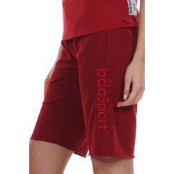 BODY ACTION WOMEN'S BERMUDA SHORTS 031124 D.RED