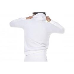 MEN FLEESE FULL ZIP HOODIE WHITE