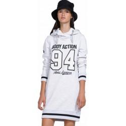 WOMEN SLOUCH HOOD DRESS WHITE
