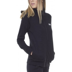 WOMEN FLEECE FULL ZIP HOODIE BLACK