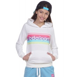 BODY ACTION GIRLS BASIC HOODIE 062101 WHITE