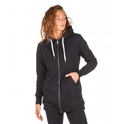 BODY ACTION FUR LINED LONG HOODIE 071922 BLACK