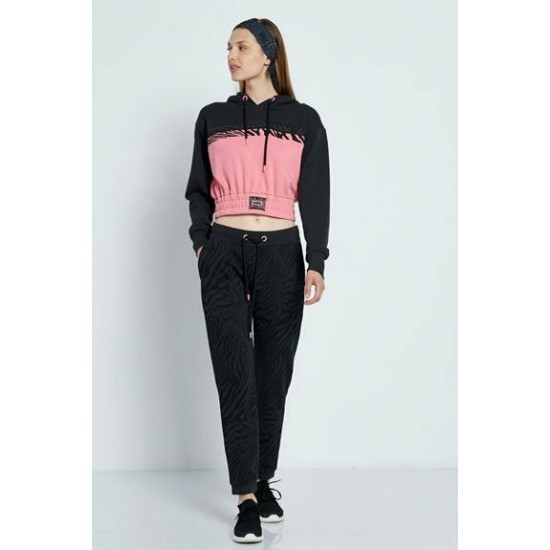 Body Talk γυναικείο παντελόνι φόρμας 1212-904500 Coal