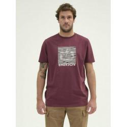 EMERSON MEN'S S/S T-SHIRT 211.EM33.66 DUSTY WINE