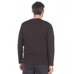 L/S CREWNECK TEE SHIRT 099-IO-BLACK